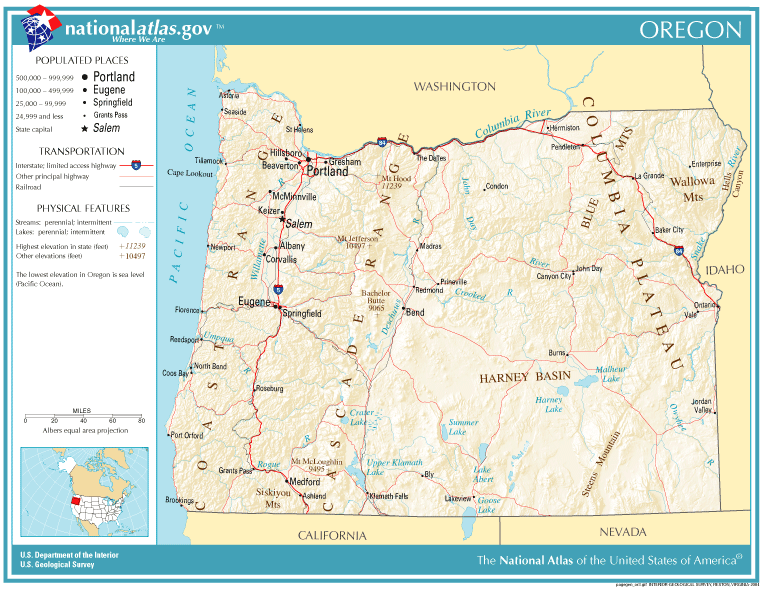 Mr Grassmans Th Grade Classroom Oregon Maps - Oregon state map with cities