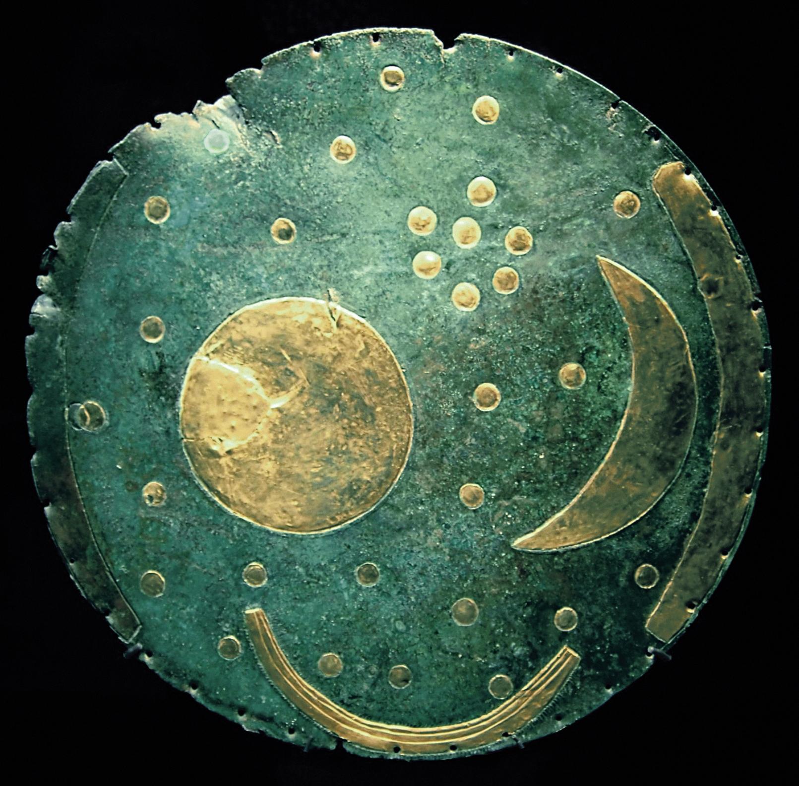 Die Himmelsscheibe von Nebra (heutiges Sachsen-Anhalt), ca. 1600v.Chr.