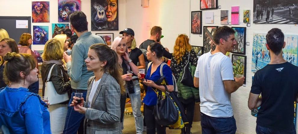 File:New Artist Fair Artists and Visitors.jpg - Wikipedia