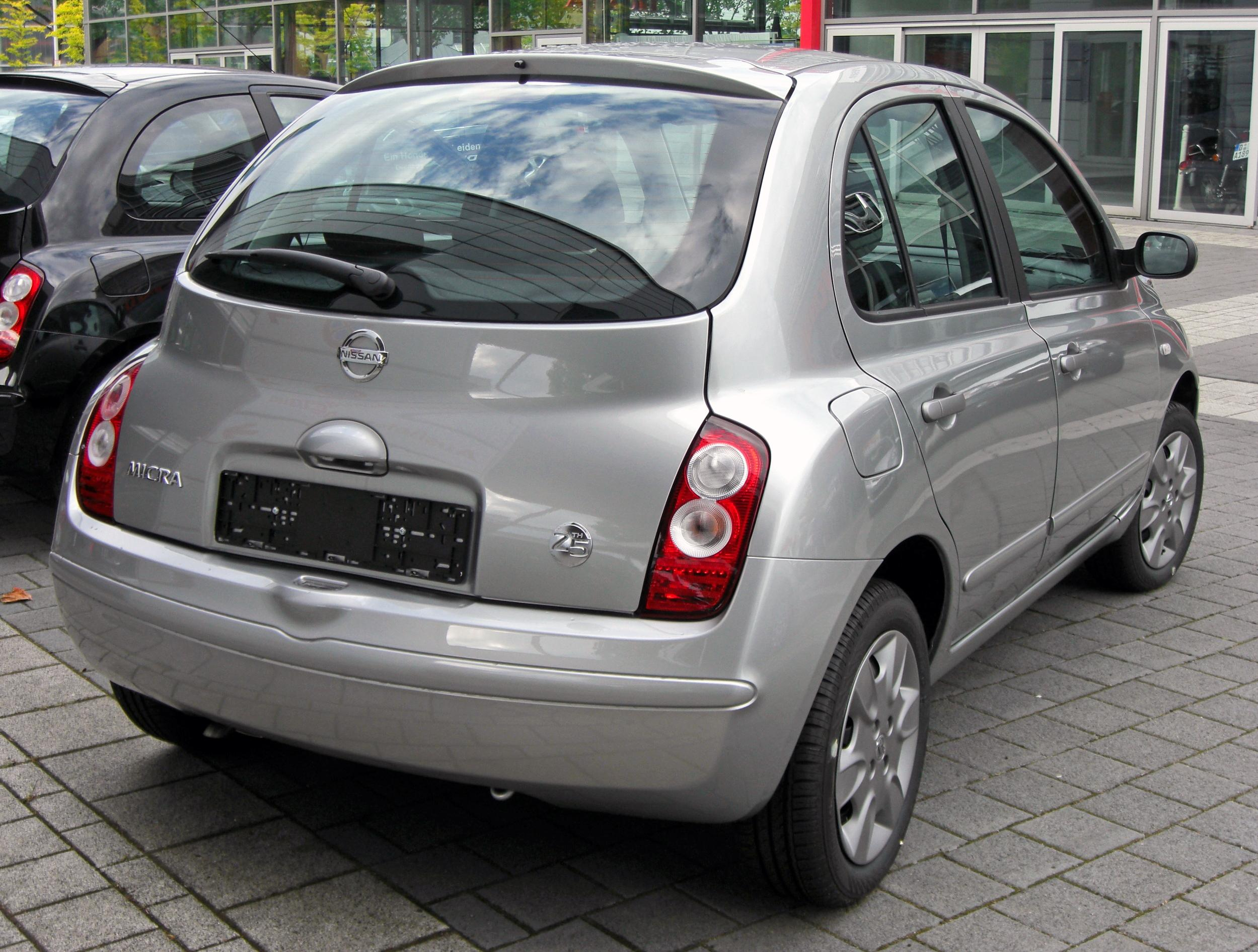 datei nissan micra iii facelift 25th jubil umsmodell 20090614 rear jpg wikipedia. Black Bedroom Furniture Sets. Home Design Ideas