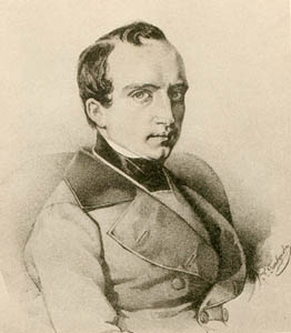 Odoevsky in the 1840s; lithograph by Kirill Gorbunov