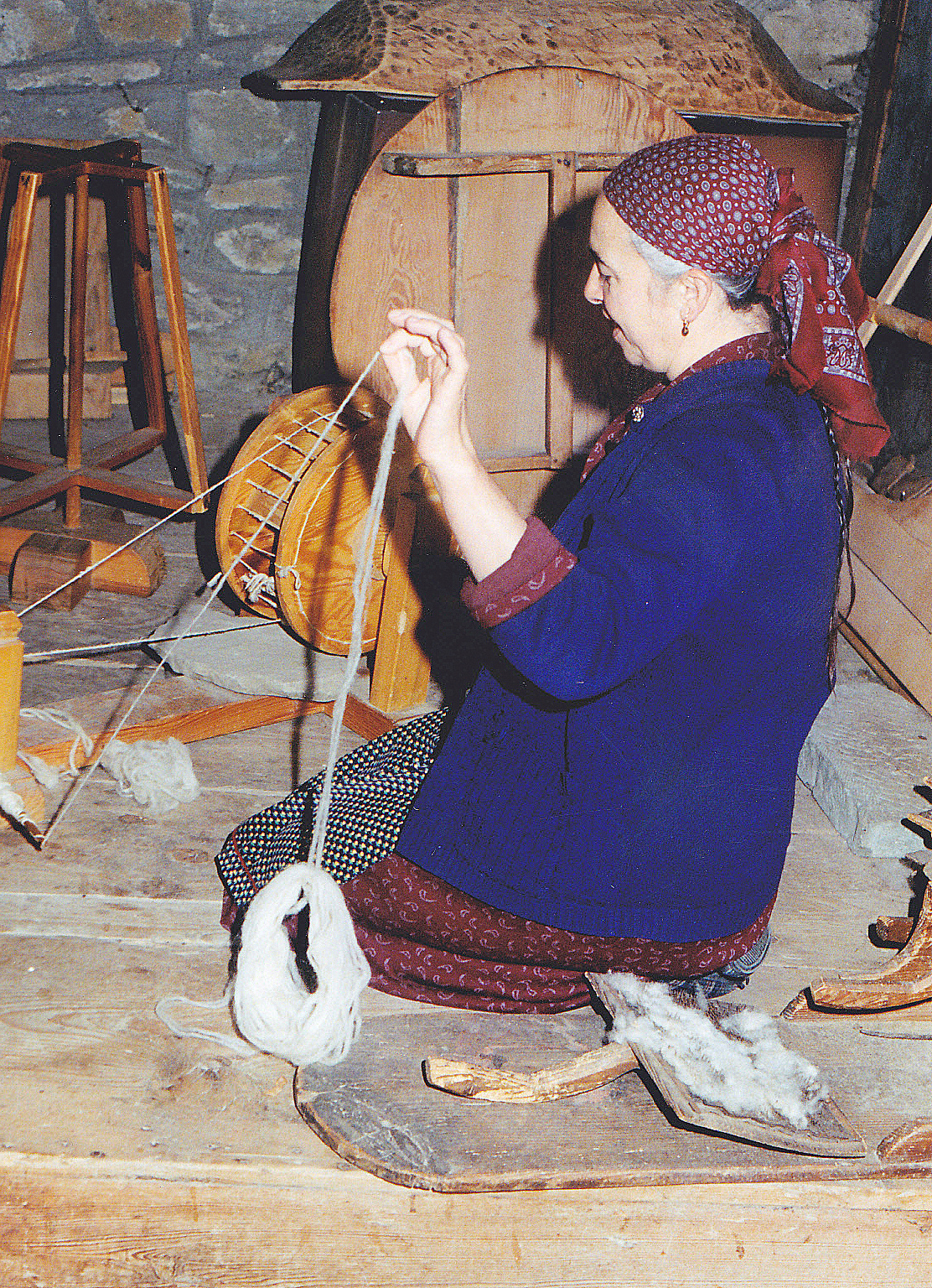 File Old Woman Behind A Spinning Wheel In Greece Jpg Wikimedia Commons