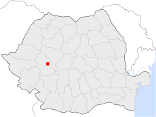 Location of Orăștie