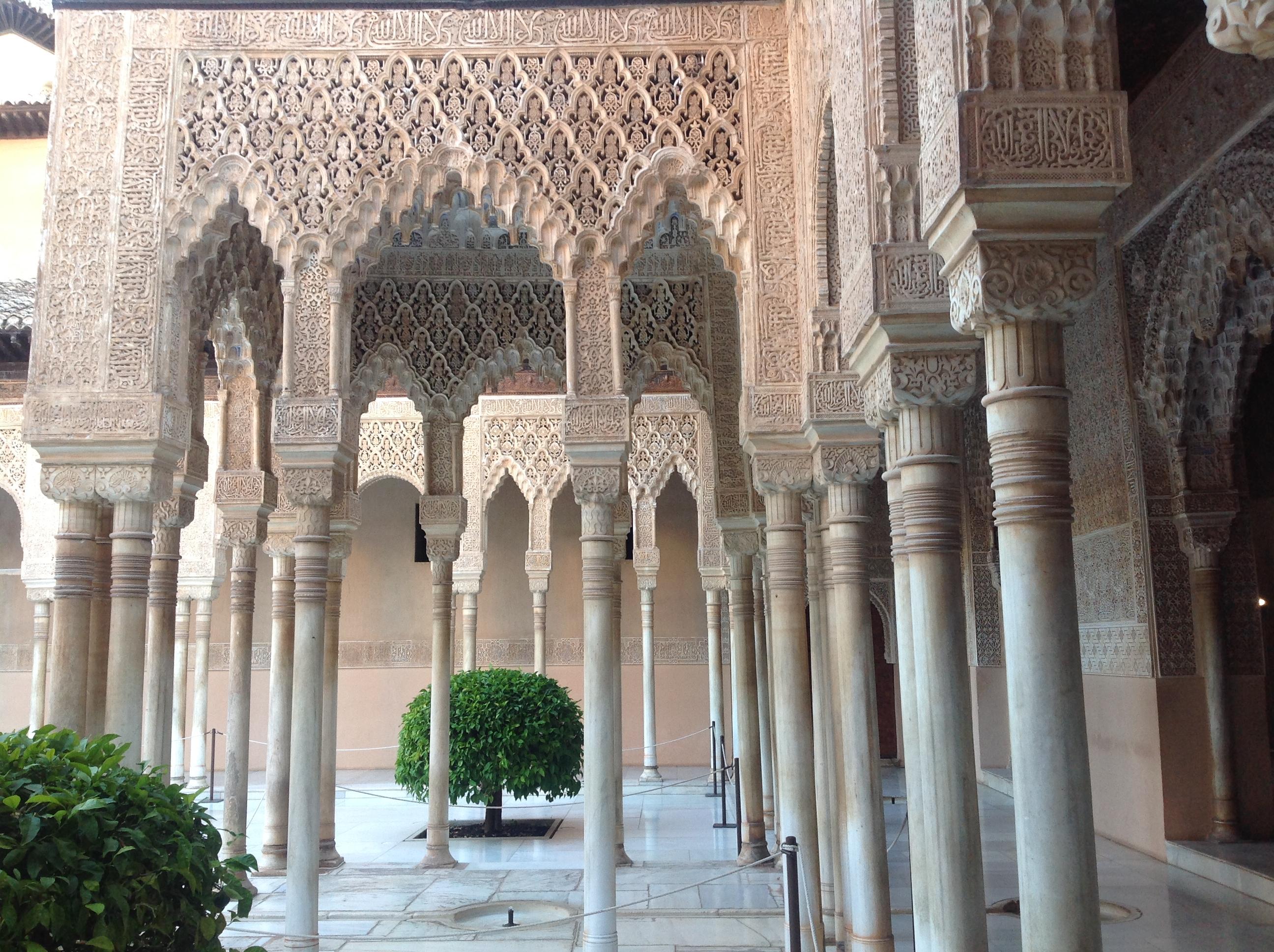 File Patio De Los Leones Alhambra De Granada Spain Jpg
