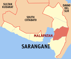 Malapatan Municipality in Soccsksargen, Philippines