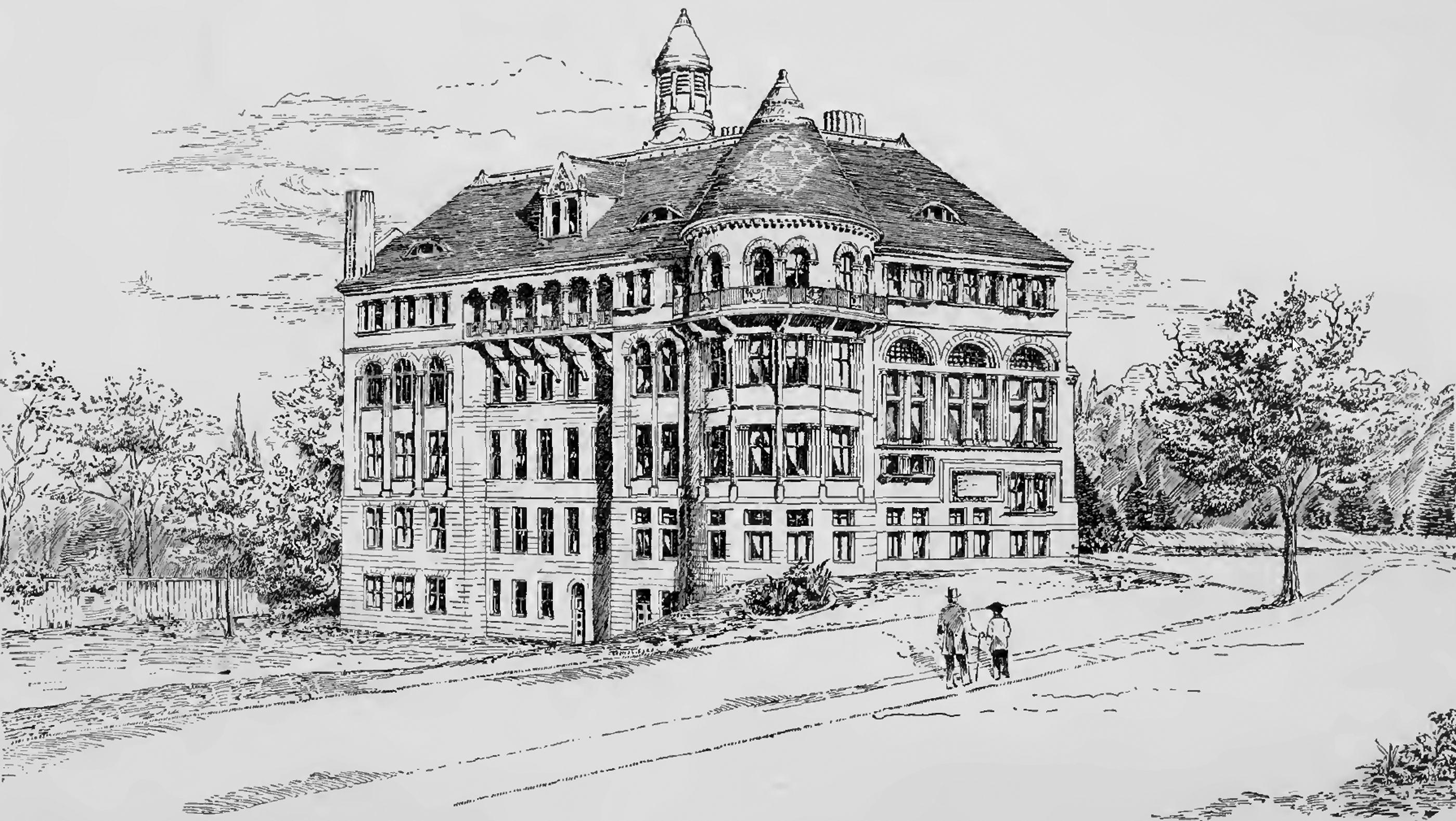 Original title:    Description Physics Building at McGill University, about 1893 Date 1896 Source F. Tillemont-Thomason: The Physics Building at McGill University. In: The Canadian Magazine of Politics, Science, Art and Literature. Volume 7, Number 5, 1896, S. 424–434. Author Andrew Thomas Taylor (1850–1937)