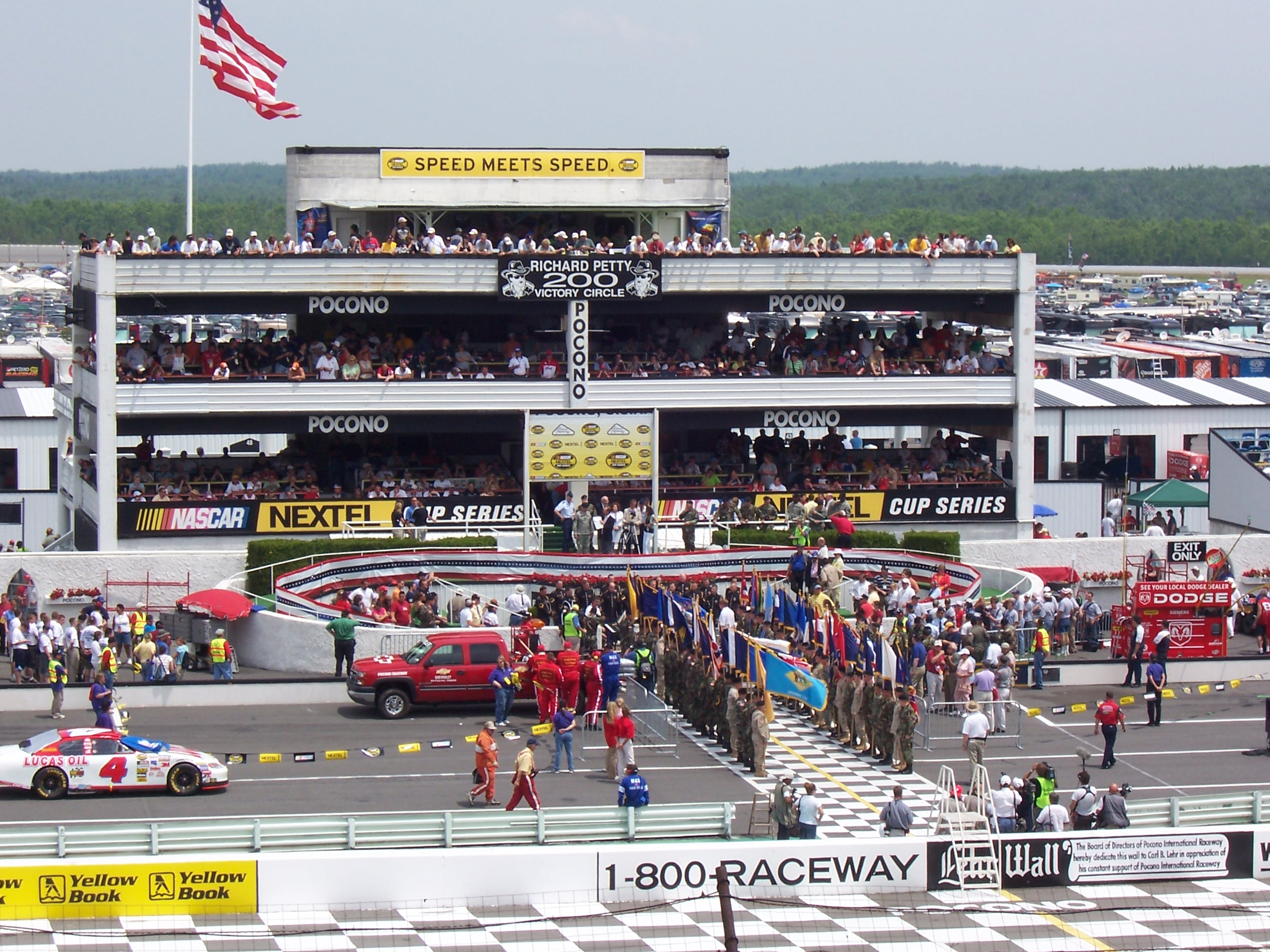 File:Pocono Victory Lane.JPG - Wikimedia Commons