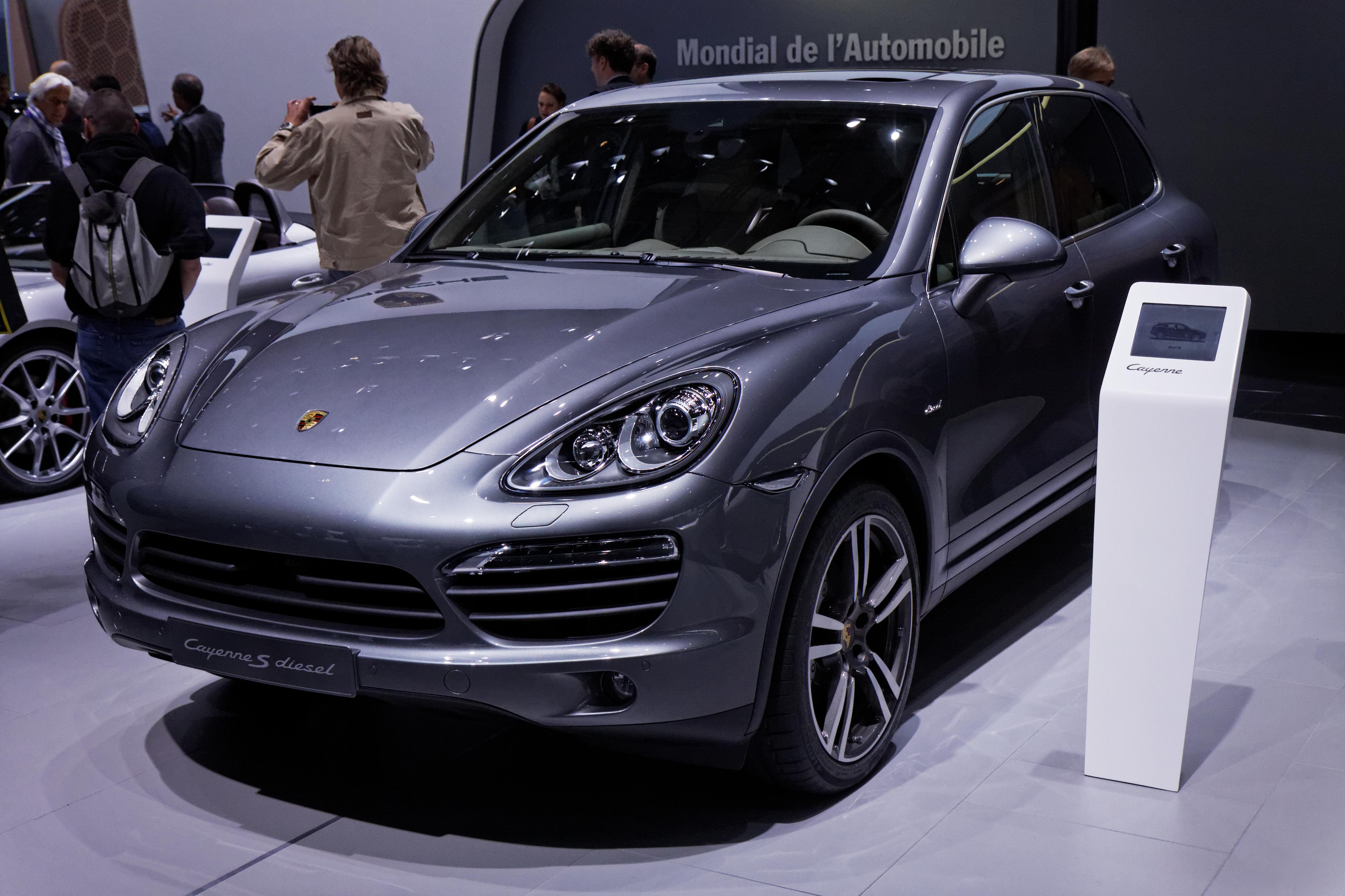 file porsche cayenne s diesel mondial de l 39 automobile de paris 2012 wikimedia