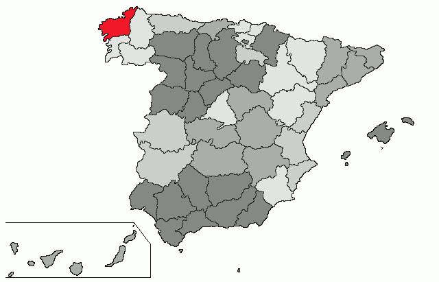 mapa de espanha corunha Corunha (província) – Wikipédia, a enciclopédia livre mapa de espanha corunha