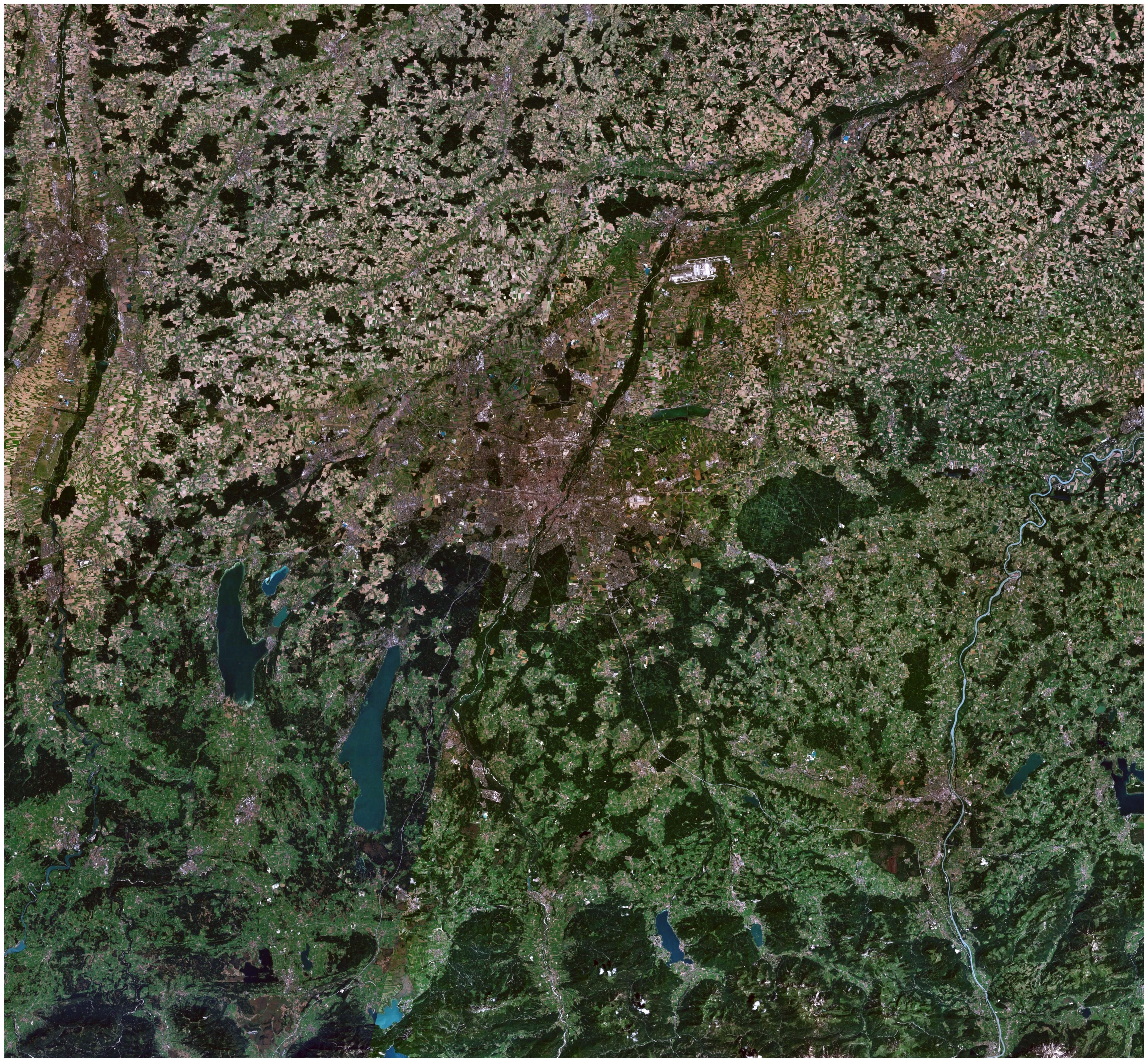 Satellitenfoto der Region München