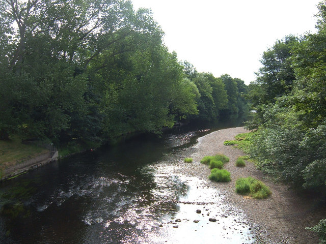 River Wharfe from Linton Bridge - geograph.org.uk - 212586