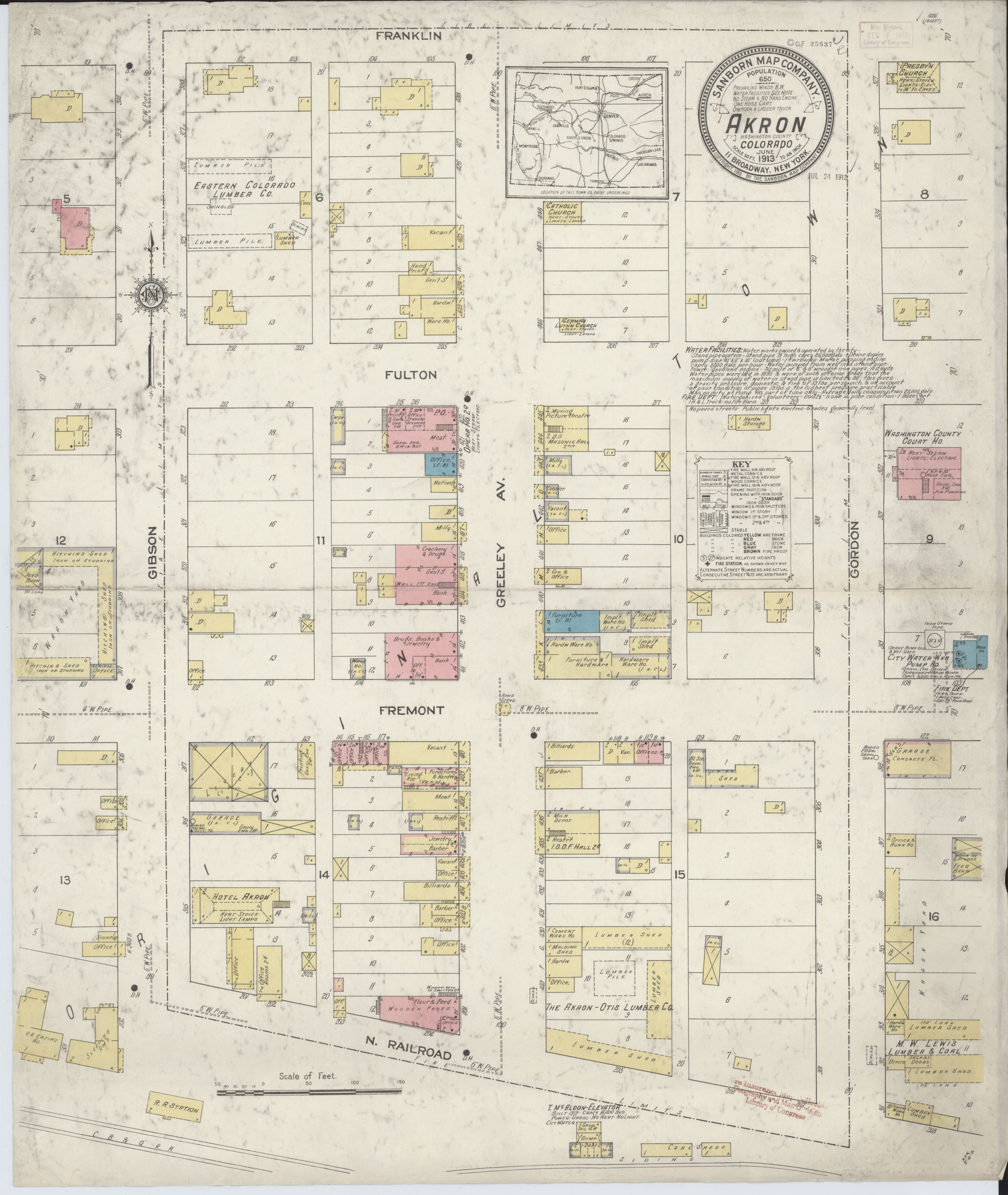Akron Colorado Map.File Sanborn Fire Insurance Map From Akron Washington County