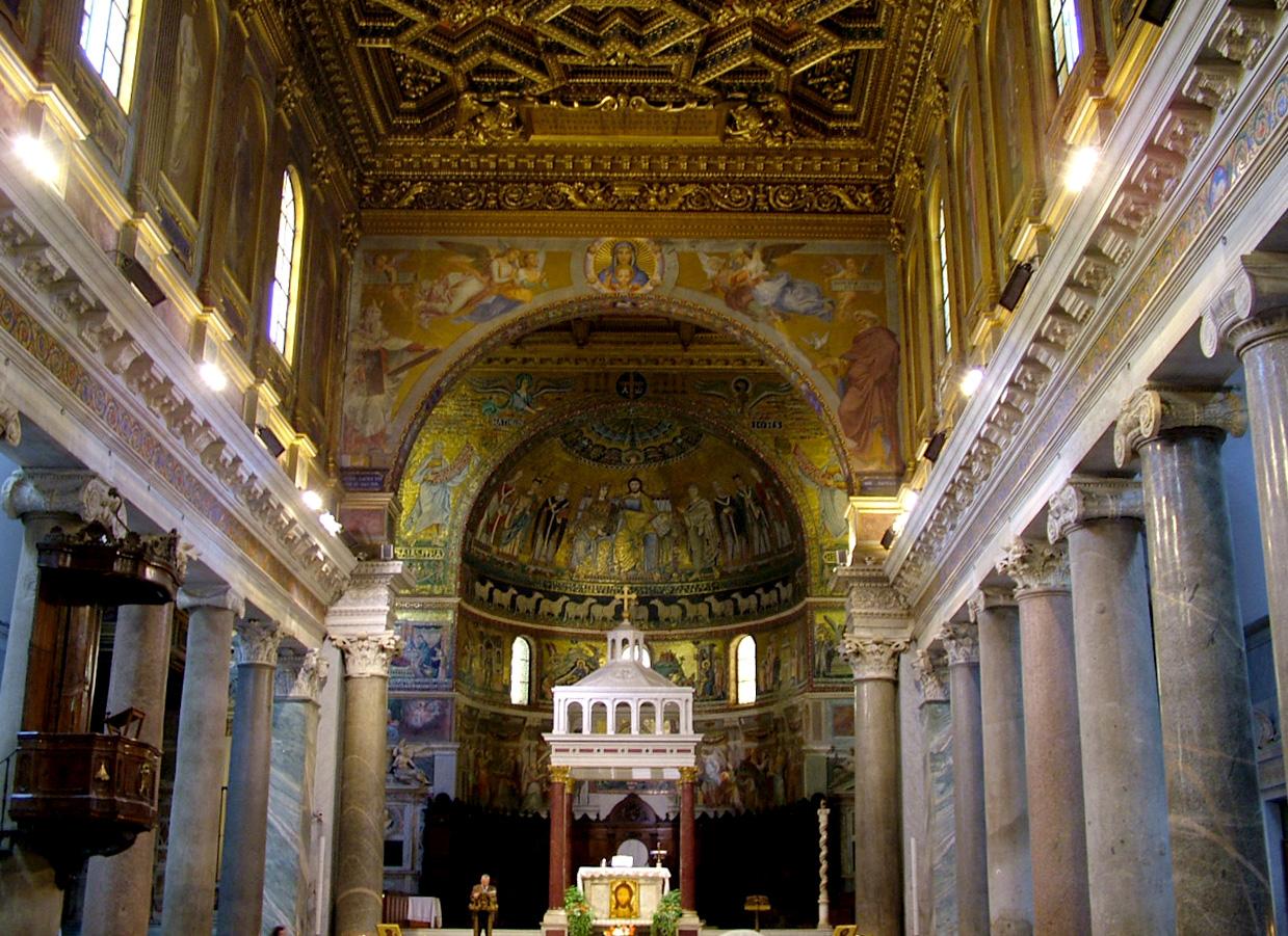 File Santa Maria In Trastevere Nave Jpg Wikimedia Commons