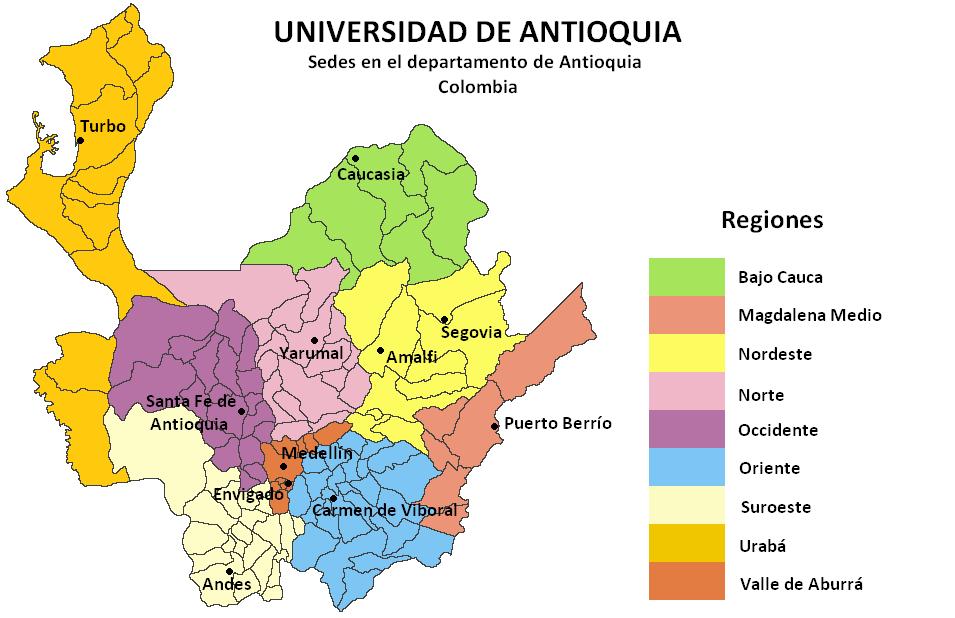 Regionalizaci n de la universidad de antioquia wikipedia for Oficina de extranjeria avenida de los poblados