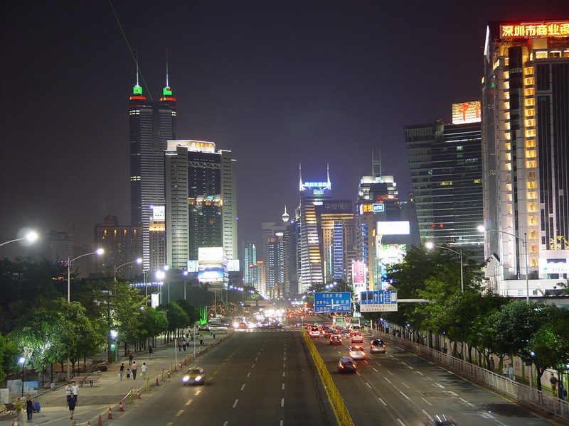 File:Shenzhen night street.JPG