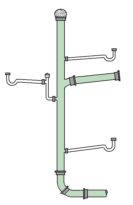 Waste Line Venting Drain-waste-vent System