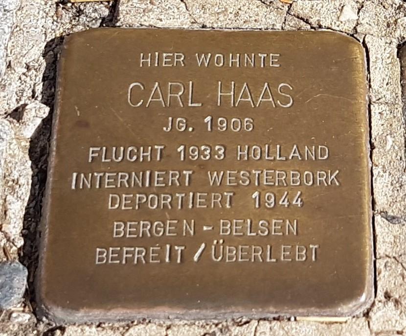 Stolperstein von Carl Haas