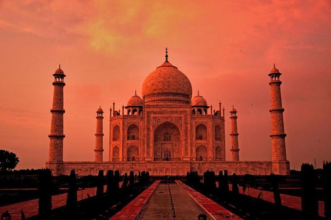 Resultado de imagen para Taj Mahal sunset