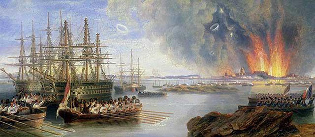Бомбардировка Севастополя, Джон Уилсон Кармайкл, 1855 год