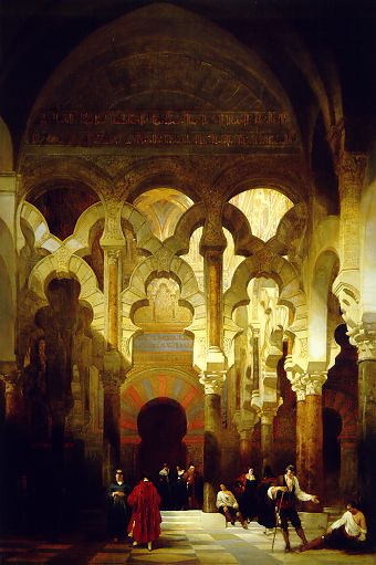 File the interior of the mosque cordoba david roberts for Mezquita de cordoba interior