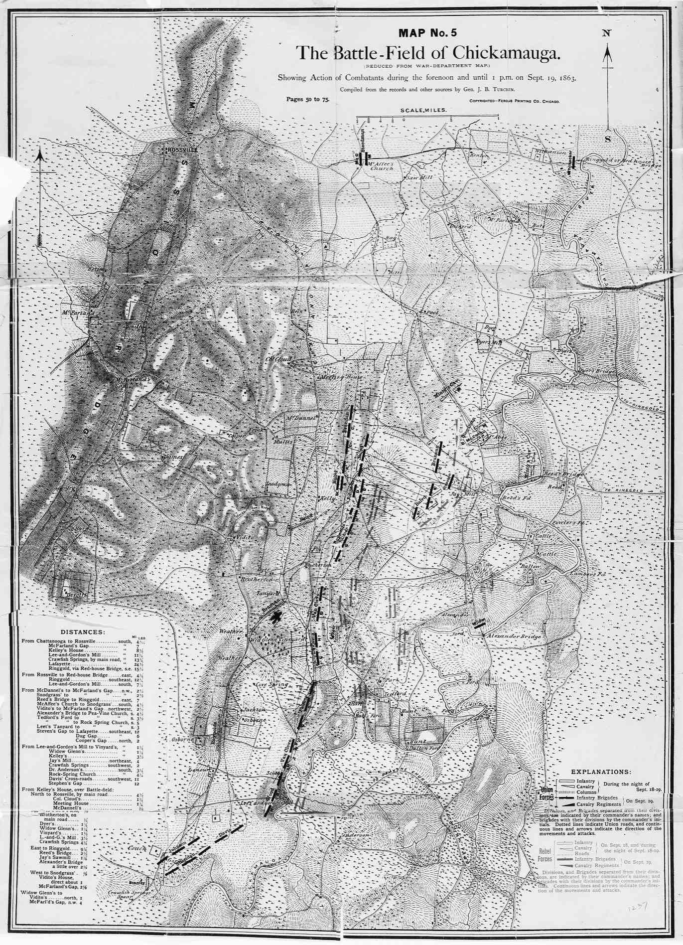 FileThe Battlefield At Chickamauga Fergus Jpg Wikimedia - Battle of chickamauga map