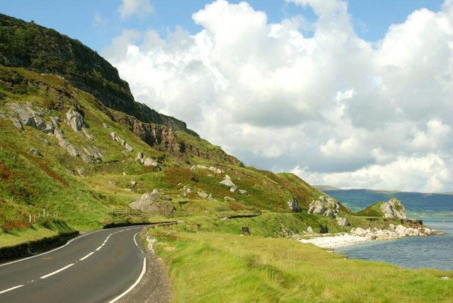 File:The coast road near Glenarm - geograph.org.uk - 946278.jpg