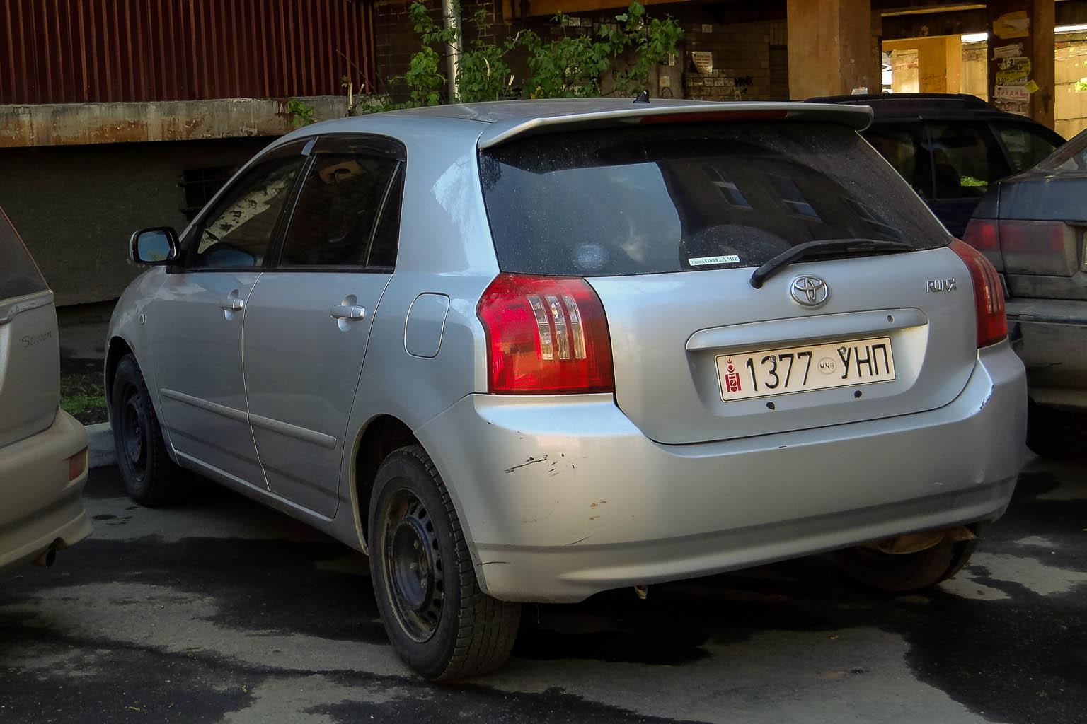Filetoyota Corolla Runx Mongolian Licence Plate 1337 Pimped Toyota