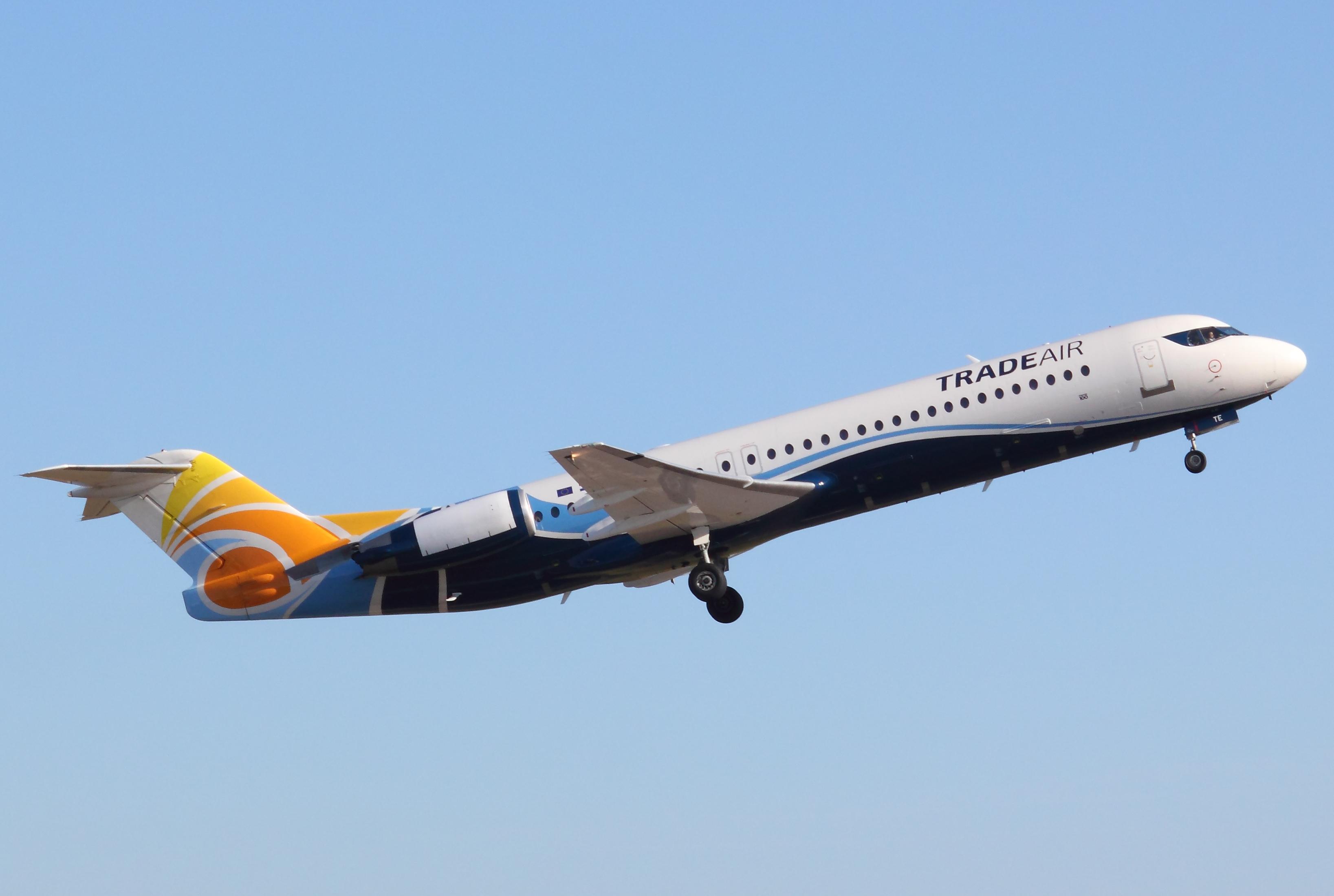 Resultado de imagen para Trade Air Fokker 100