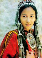 Turkman girl in national dress