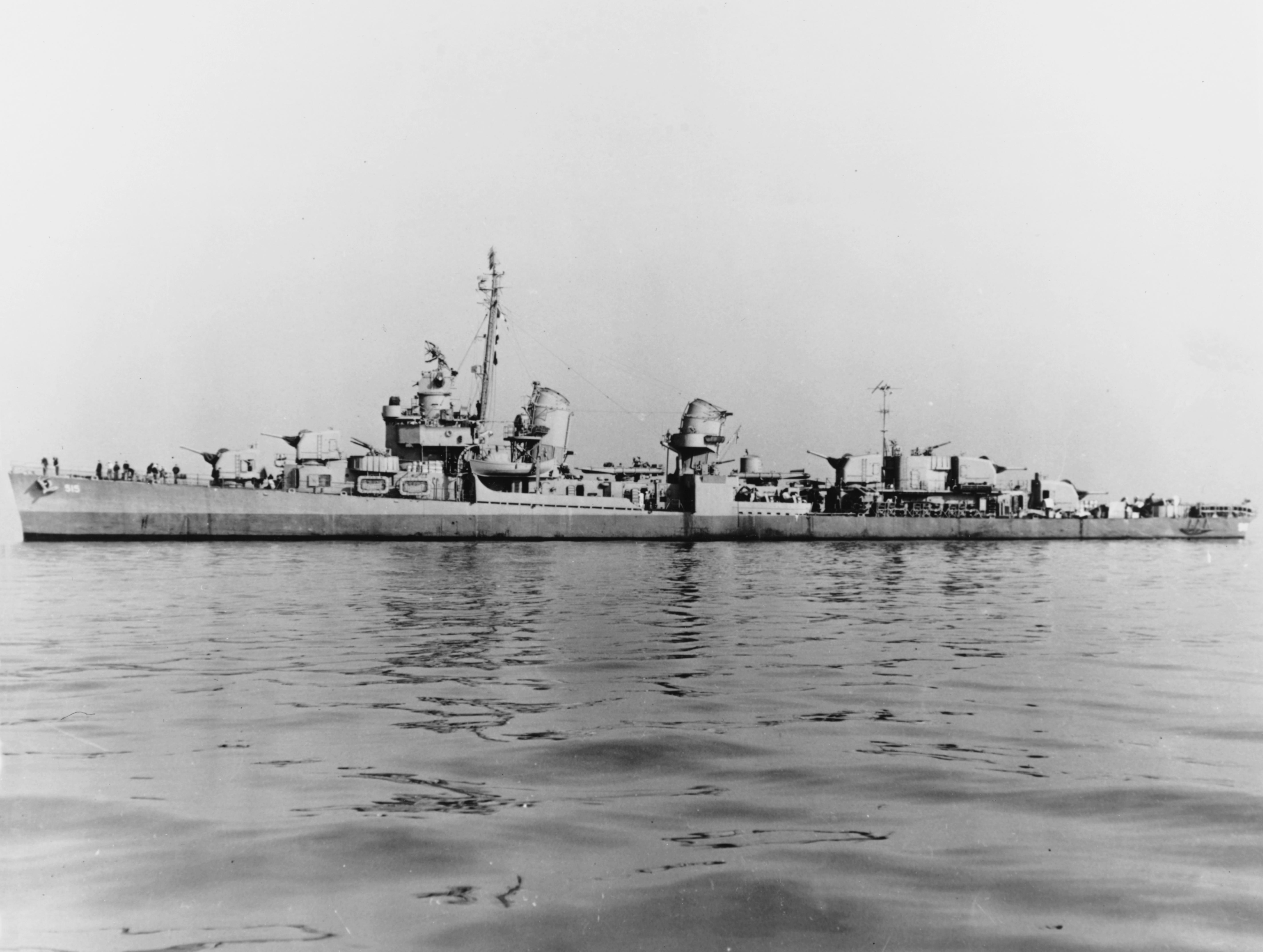 USS Anthony (DD-515) off the Mare Island Navy Yard, California, 8 December 1944