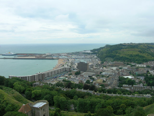 View from Dover Castle - geograph.org.uk - 1288084