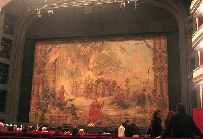 Rideau de th tre wikip dia for Decor de theatre