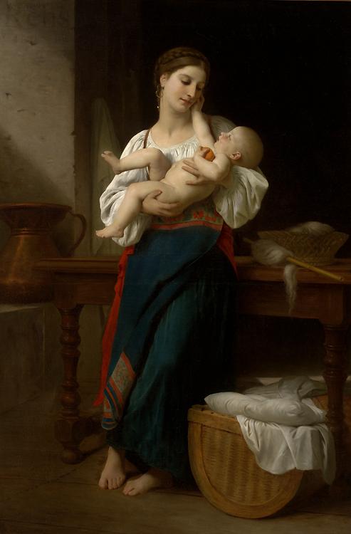 William A. Bouguereau -Premières Caresses - 1866.jpg