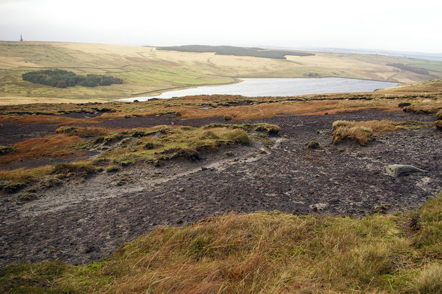 Withens Moor and Withen Clough Reservoir - geograph.org.uk - 336514
