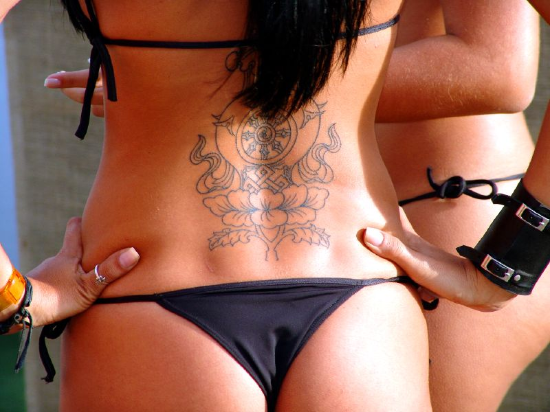 Lower back tattoos for women