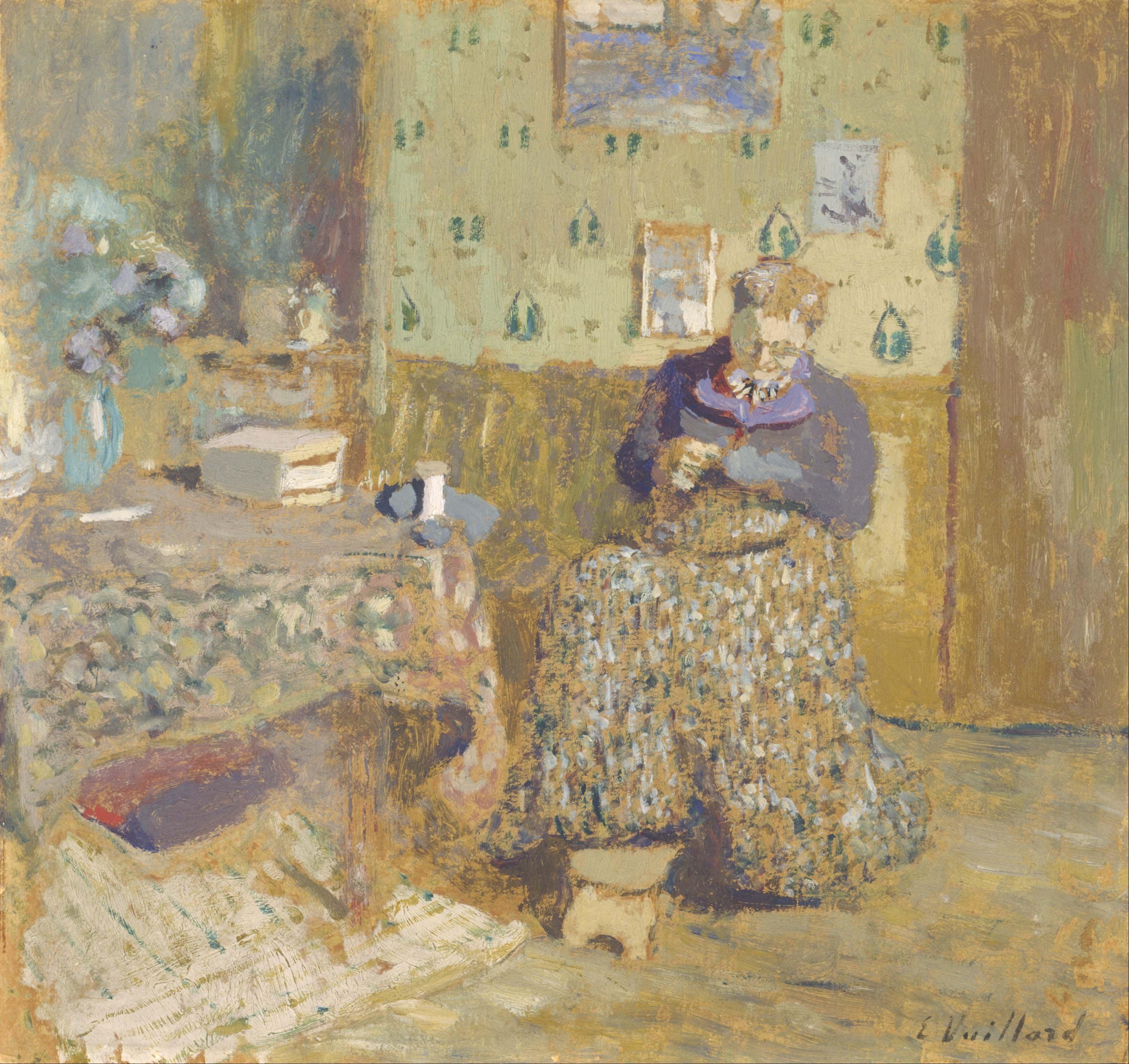 Édouard Vuillard, Madam Vuillard Sewing