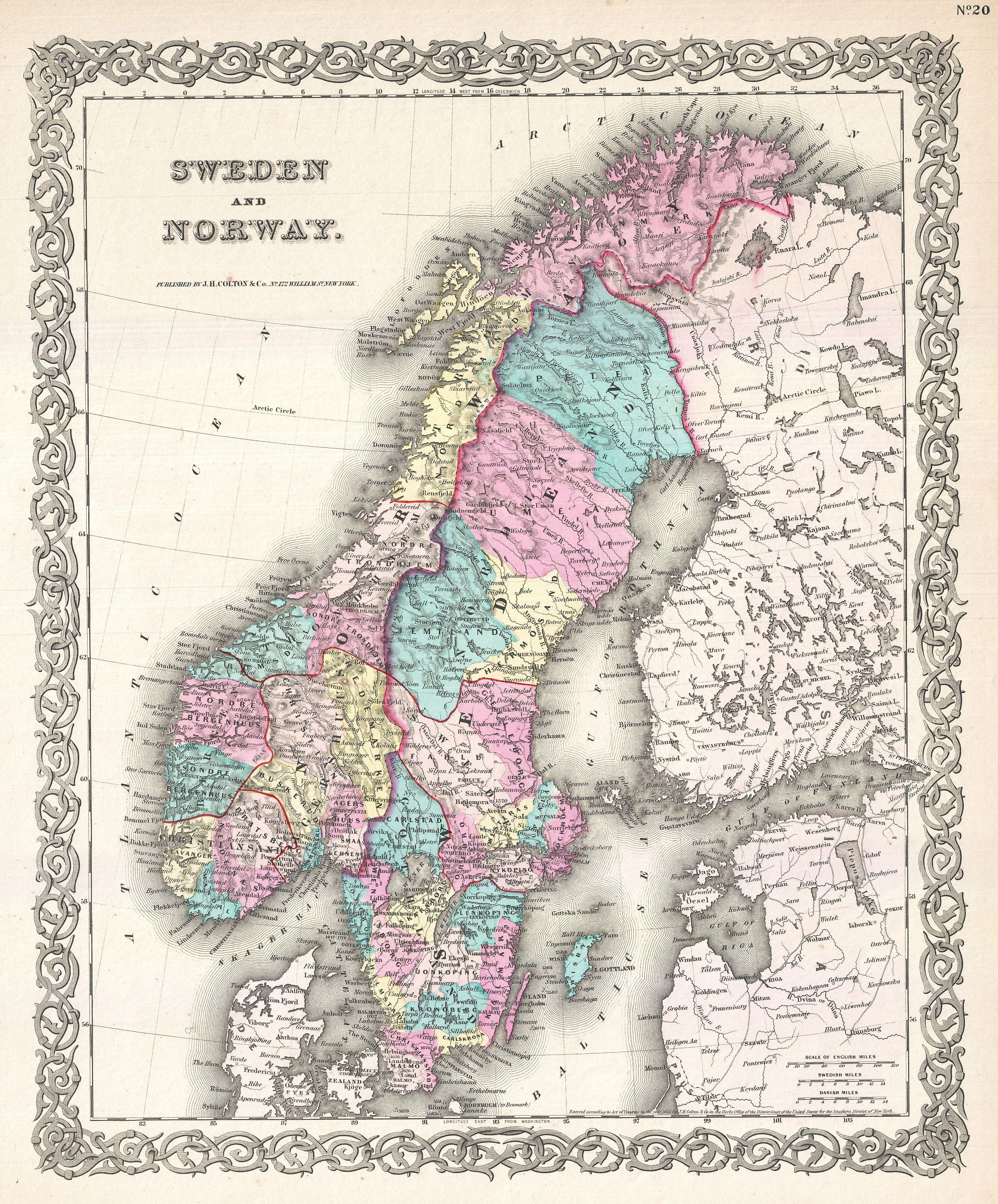 File Colton Map Of Scandinavia Norway Sweden Finland - Sweden map 1800