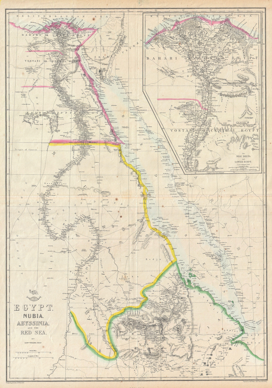 File Dispatch Atlas Map Of Egypt Nubia Abyssinia And The - Map of egypt and nubia