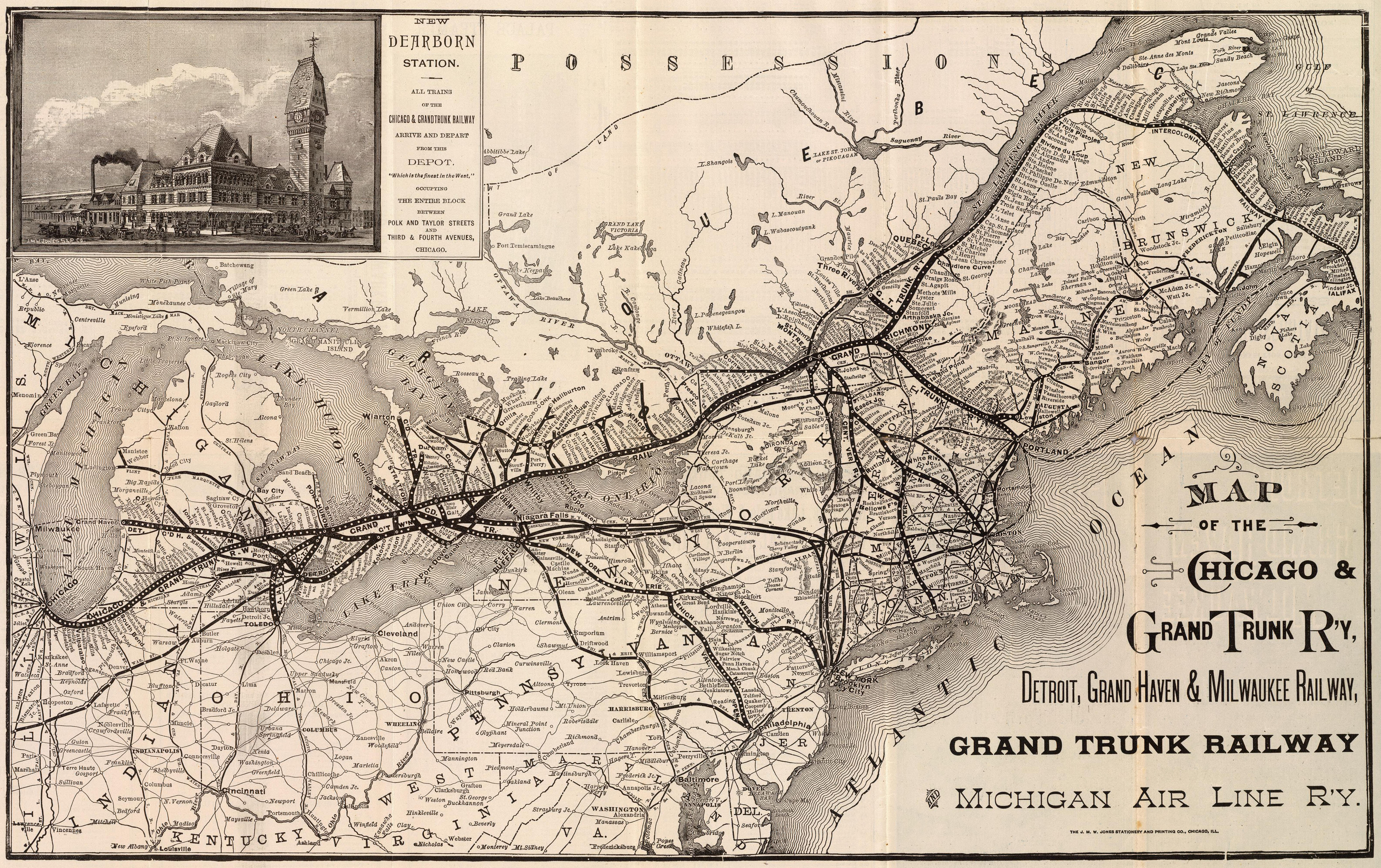 Grand Trunk Western Railroad - Wikipedia on chicago train, chicago rail yards, chicago commuter rail map, chicago rail terminal, chicago light rail map, united states freight railroad map, vancouver freight rail map, chicago area rail map, chicago rail transit map,