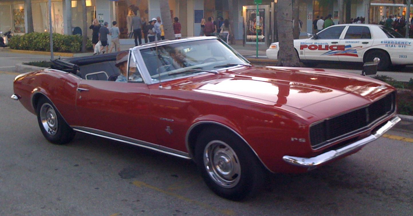 File 1967 Camaro Rs Convertible Red Fl Jpg Wikimedia Commons
