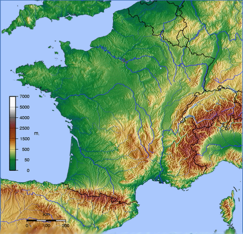 a geography of france France is a country covered largely in plains and accented by occasional rolling hills and expansive mountains along its borders the second-largest country in europe, france is mountainous in its france is a country covered largely in plains and accented by occasional rolling hills and expansive mountains along its borders.