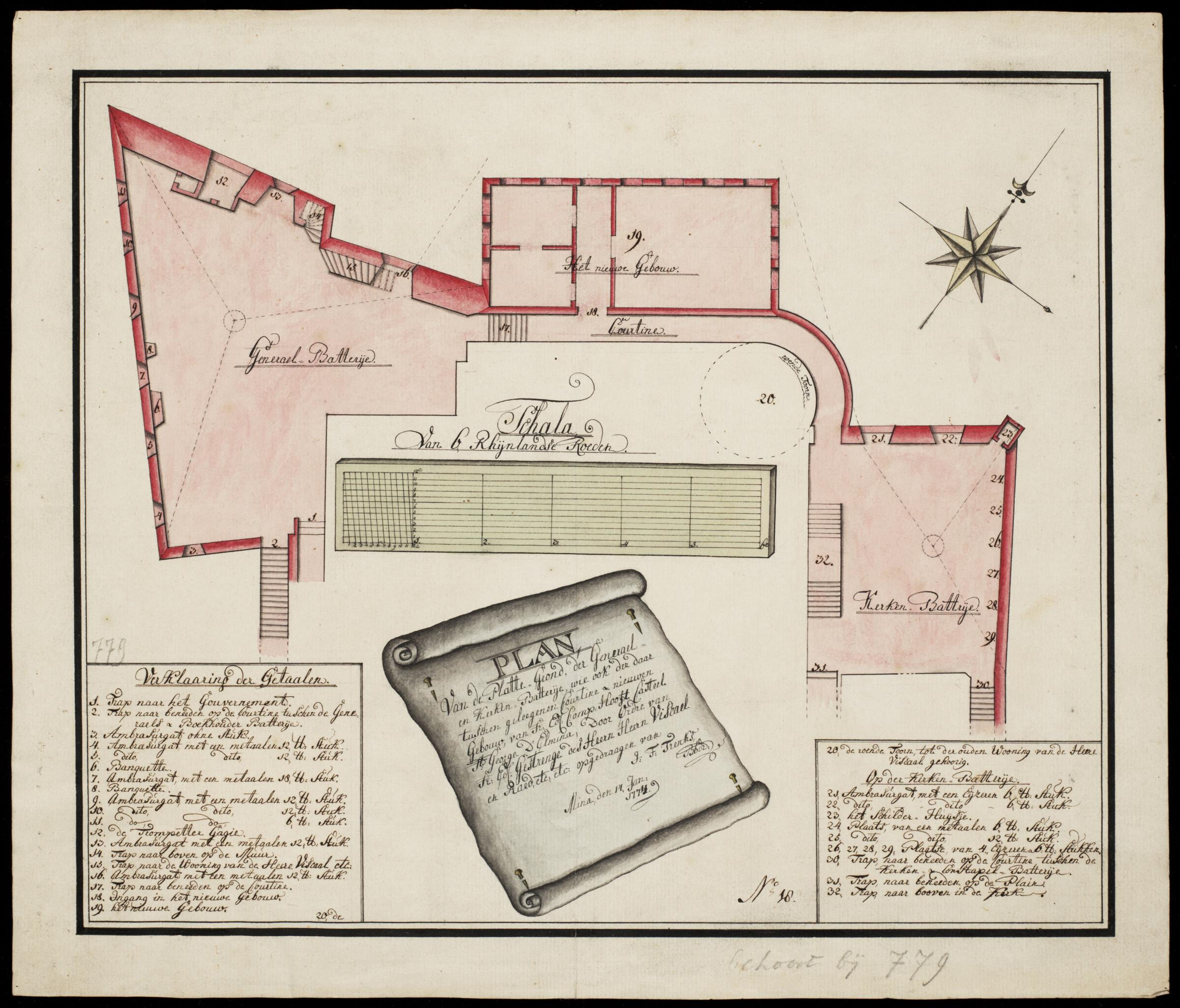O Ring Sizes Chart: AMH-7719-NA Floor plan of part of Fort St. George at Elmina ,Chart