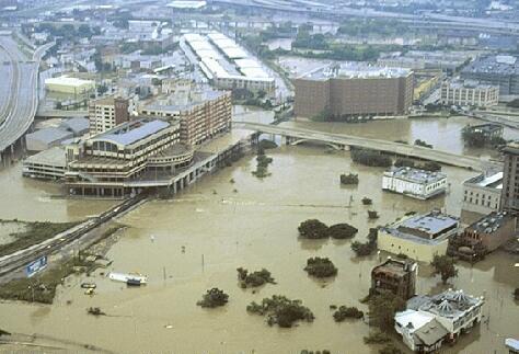 Allen's Landing after Tropical Storm Allison, June 2001