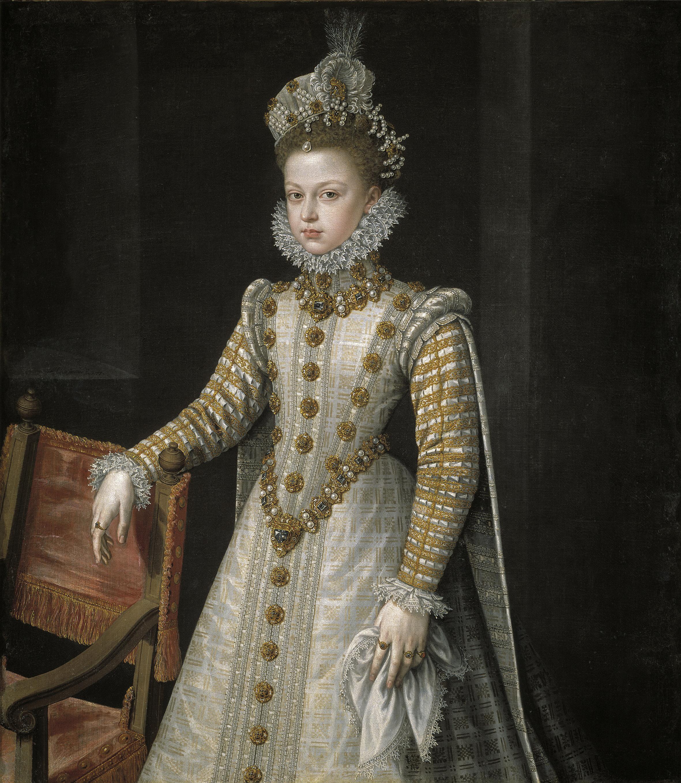 Retrato de la infanta Isabel Clara Eugenia por Alonso Sánchez Coello.
