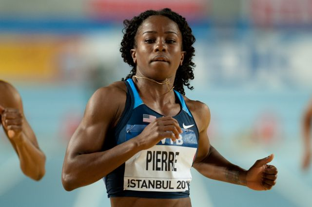 Barbara Pierre runs 11.30 for 2nd place at 2013 Ponce Grand Prix