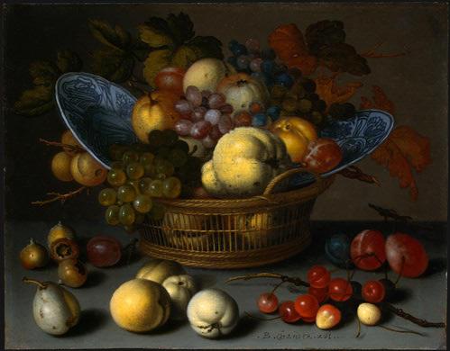 Oil Painting Spanish Fruit Basket