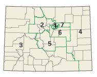 Colorado districts in these elections