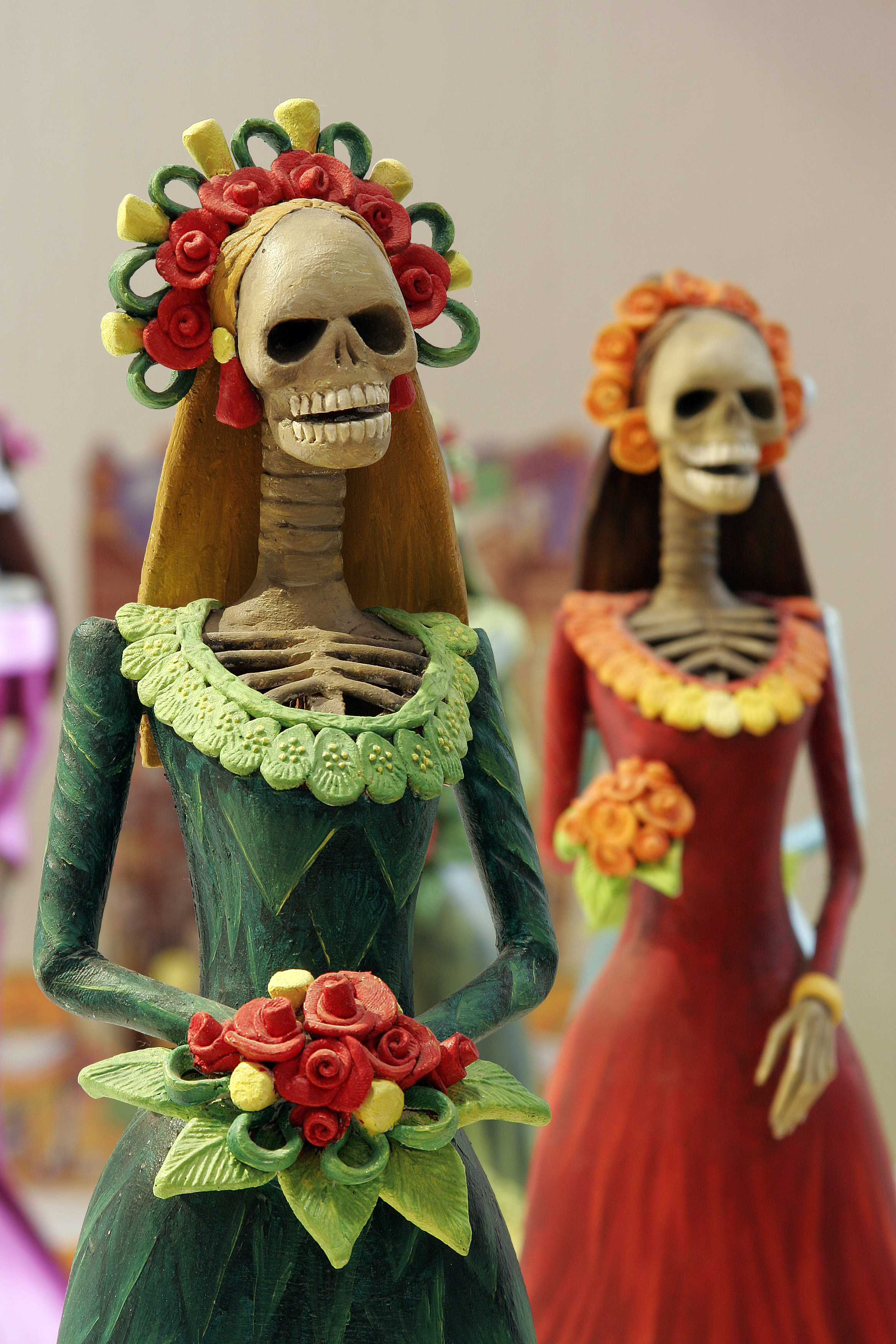 ghost catrinas one of the most popular figures of the day of the dead celebrations in