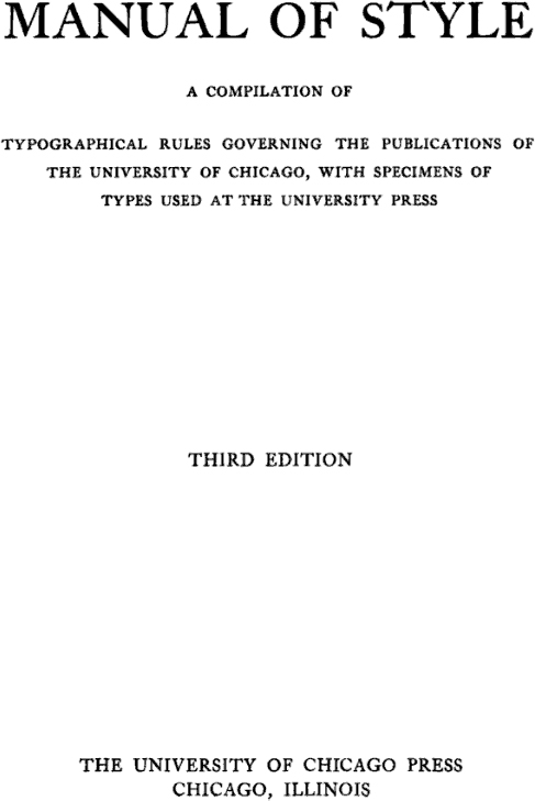 chicago manual of style example paper with footnotes