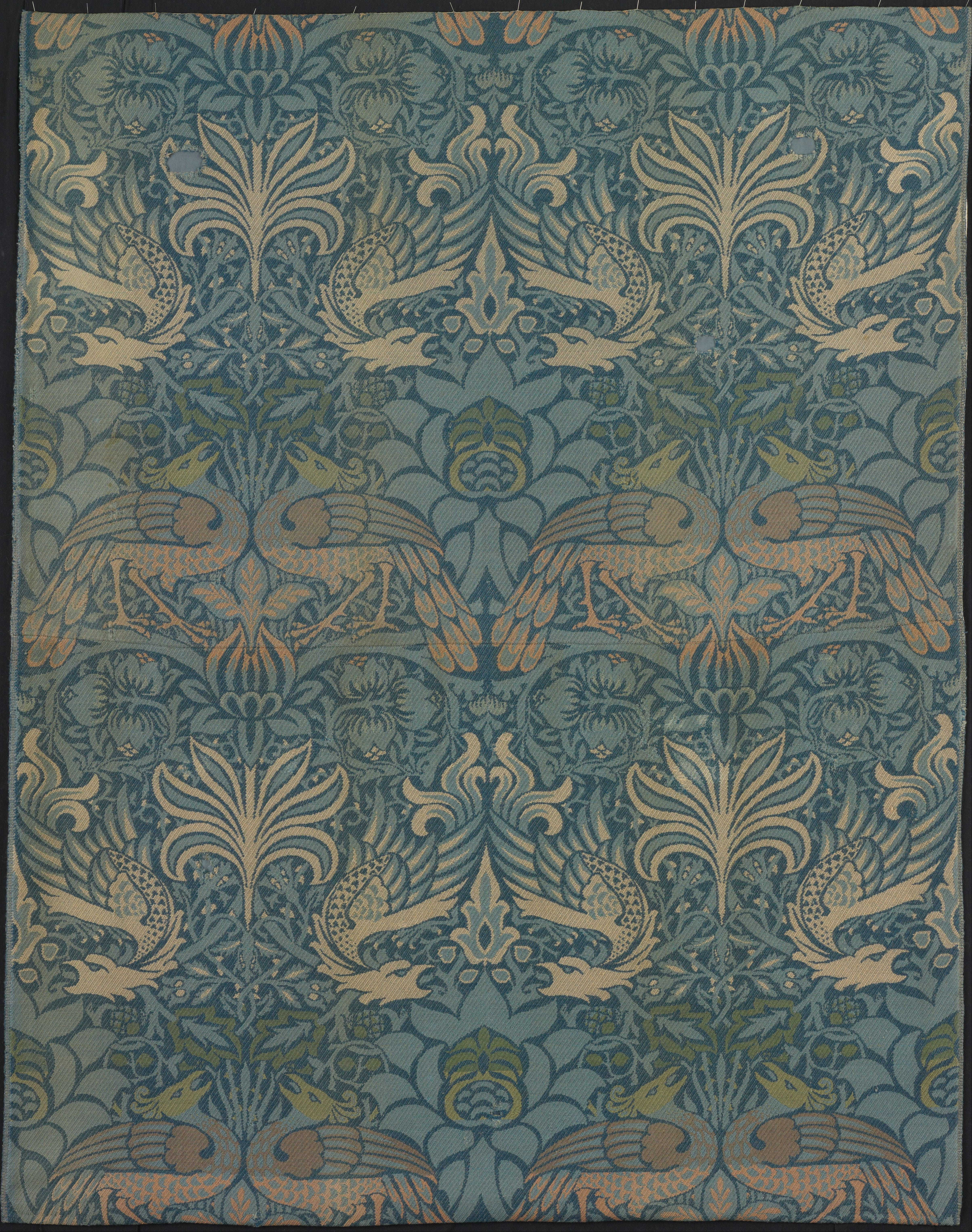 File Designed By William Morris Panel Entitled Quot Peacock